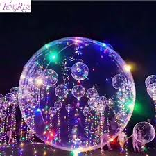 String Light Balloon Us 2 6 13 Off Fengrise 18 Inch Led Copper Wire String Light Balloons Luminous Led Balloon Romantic Wedding Decoration Birthday Party Supplies In