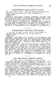 the industrial removal office 29 independent order sons of jacob org april 1905