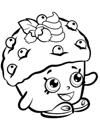 Small Picture Mini Muffin Shopkin coloring page Free Printable Coloring Pages