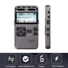 Máy Ghi Âm Kỹ Thuật Số 8GB Máy Ghi Âm Giảm Tiếng Ồn Màn Hình 2 Inch MP3 Máy  Nghe Nhạc
