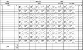 Baseball Game Scorecard Printable Pdf Baseball Scorecard Lineup Count Sheets
