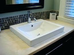 semi recessed bathroom sinks semi recessed bathroom sink white semi recessed sink set in honed tops
