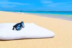 beach towel on beach. Simple Towel Sunglasses On A Towel At The Beach Stock Photo And Beach Towel On
