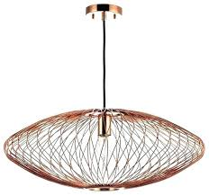 copper wire pendant light post copper wire cage pendant light
