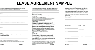Lease Agreements Sample template Lease Agreements Template 1