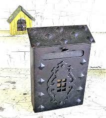 wall mount mailbox black metal mailbox black vintage mailbox wall mount post box commercial wall