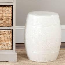 safavieh lotus off white ceramic patio stool
