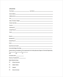 Scholarship Aplication Form Sample Scholarship Application Form 7 Documents In Pdf Word