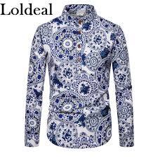 <b>Loldeal</b> Men's Going Out Club Boho Chinoiserie Cotton Linen <b>Shirt</b>
