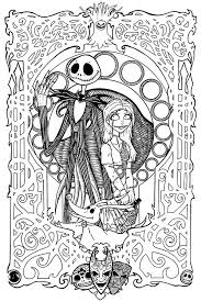 Jack Skellington Coloring Pages Nightmare Before Christmas Coloring