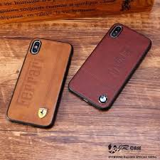 iphone 7 plus 8 luxury sport car logo leather skin cover phone cases