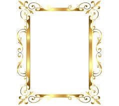 gold frame border vector. Interesting Gold Gold Frame Border Clip Art Transparent  Image   Inside Gold Frame Border Vector