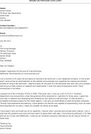 Sample Cover Letter Biology Lab Technician Adriangatton Com