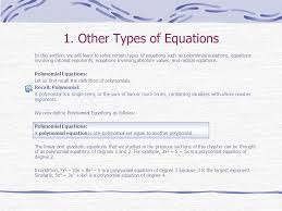 other types of equations