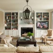 Family Room: Fireplace & TV & Built-in Shelving