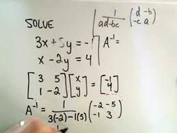 of linear equations using inverses