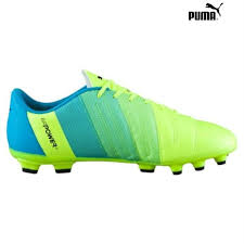 puma mens football exciting boots puma ag artificial grass safety yellow no 58037 black blue atomic gkqrty1246