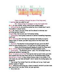 holiday planning script gcse english marked by teachers com page 1 zoom in