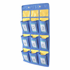 Hanging Classroom Cell Phone Pocket Chart Calculator Storage