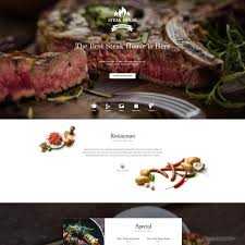 Wp Restaurant Themes Gavickpro Steak House Free Download Restaurant Wordpress