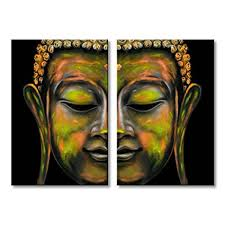 buddha canvas wall art decor religion painting modern print framed ready to hang 24 quot w on wall art prints framed with amazon buddha canvas wall art decor religion painting modern