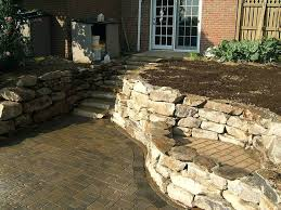 stone retaining wall natural stone retaining walls in