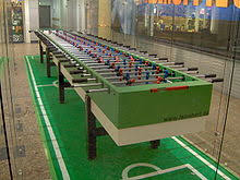 table football. an 11-per-side leonhart table football game in berlin b