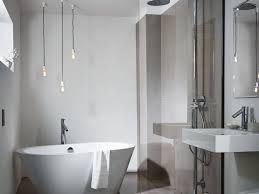 bettestarlet oval silhouette bath in a small bathroom with separate shower