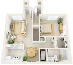 One Bedroom Flat Interior Design 50 One 1 Bedroom Apartment House Plans Cool Apartments