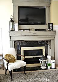 image of pictures painted mantels