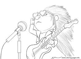 Small Picture Sing Porcupine Coloring pages Printable