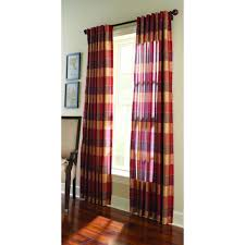 Plaid Curtains For Living Room Martha Stewart Living Miso Merlot Faux Silk Plaid Curtain 1611016