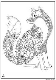 Small Picture Fox Adults Patterns coloring pages