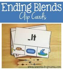 Free Ending Blends Chart Ending Blends Clip Cards Free Printable