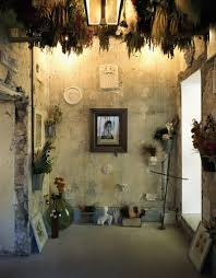 evoking a rural house the dry flowers for handarranged bouquets features a plaster room finish