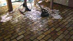 renovating an old brick floor