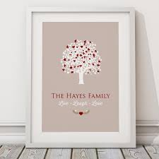personalised family tree print on wall art family tree uk with personalised family tree live laugh love print canvas cute tree