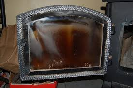your wood stove or fireplace insert glass can often have a grey or black over it this can often seem baked on and very difficult to remove