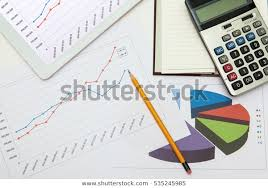Sales Graph Chart On Paper Tablet Stock Photo Edit Now