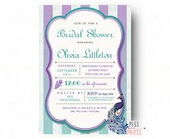 peacock invitations peacock bridal shower invitation printable peacock bridal shower