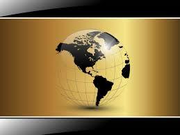 Black Business Background Black Golden World For Business Backgrounds 3d Black Business