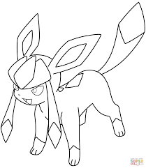 Small Picture Glaceon Pokemon coloring page Free Printable Coloring Pages