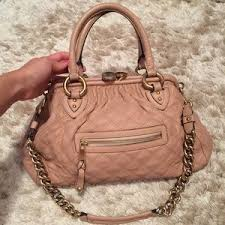 Women's Marc Jacobs Bag Repair on Poshmark & Marc Jacobs Large Quilted Stam Satchel in Blush Adamdwight.com