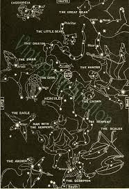 1933 Vintage Star Chart Spring Summer Celestial Maps