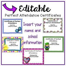 free perfect attendance certificate free download perfect attendance certificates for the rest of the