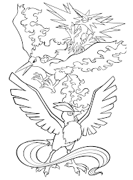 Legendary Birds Pokemon Coloring Page