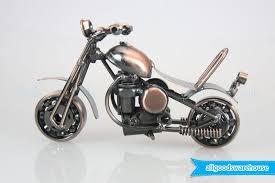 scrap metal art handmade nuts and bolts motorbike gift model