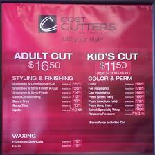 cost cutters s high low average