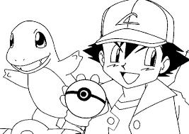 Ash E Charmander Pokemon Da Colorare Disegni Da Colorare E