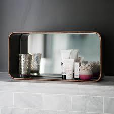 industrial cube mirror wall shelf